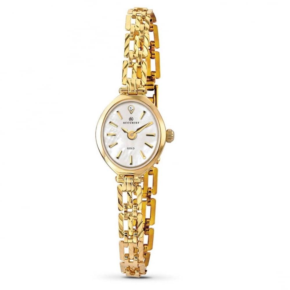 Accurist Ladies 9ct Bracelet Watch 8801