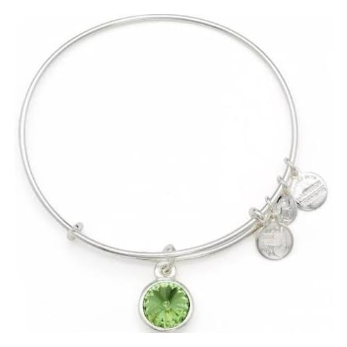 Alex and Ani August Birthstone Charm Bangle A12EB247RS