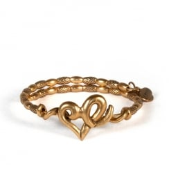 Alex and Ani Heart Wrap Bangle VW357RG