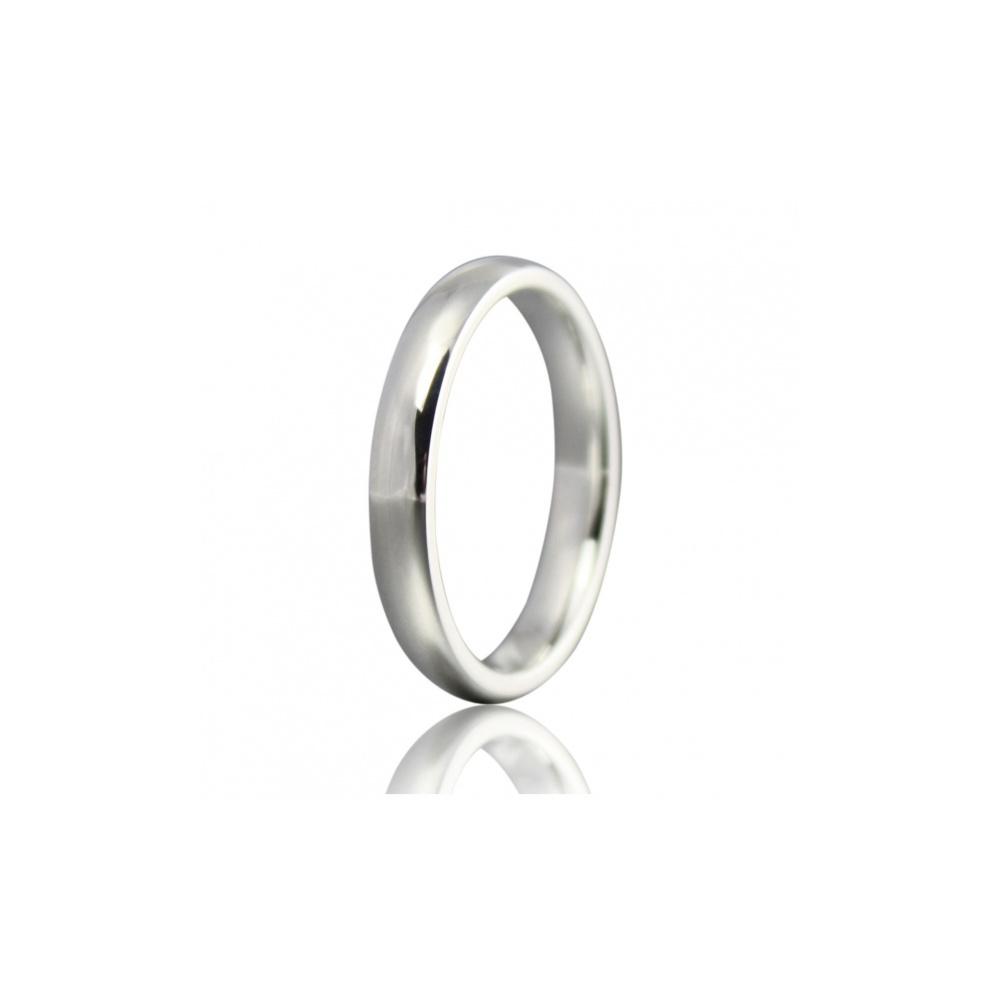 Argentium Silver Britannia 960 2 5mm Court Wedding Ring