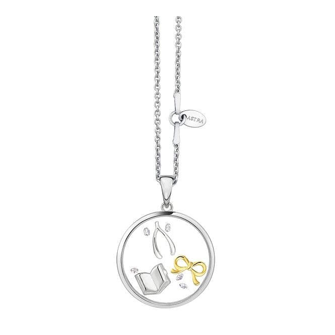 Astra Jewellery Sterling Silver Love Story Pendant FRP015S