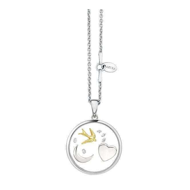Astra Jewellery Sterling Silver The Moon And Back Pendant FRP019S
