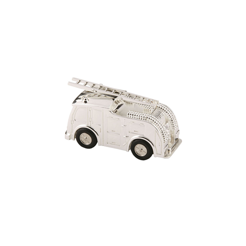 Bambino Silver Plated Fire Engine Money Box - 196
