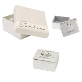 Bambino Silver Plated First Curl Box CG863