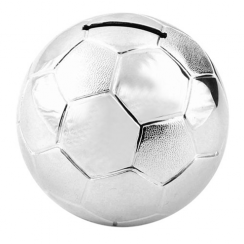 Bambino Silver Plated Football Money Box - 6303