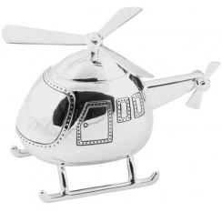 Bambino Silver Plated Helicopter Money Box - 208L