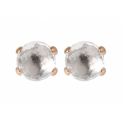 Bronzallure Rose Gold Plated Crystal Quartz Earrings WSBZ00279.C