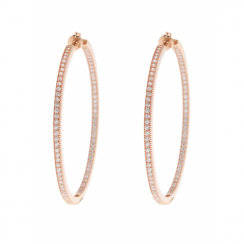 Bronzallure Rose Gold Plated CZ Hoop Earrings WSBZ00349.W