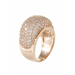 Bronzallure Rose Gold Plated CZ Ring WSBZ00192.-14