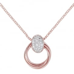 Bronzallure Rose Gold Plated Elliptica Necklace WSBZ00827.WR