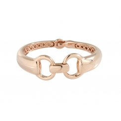 Bronzallure Rose Gold Plated Horsebite Bangle WSBZ00441.R
