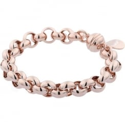 Bronzallure Rose Gold Plated Victoria Magnetic Rolo Bracelet WSBZ00641.R