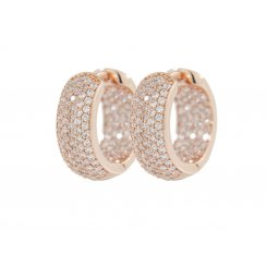 Bronzallure Rose Gold White CZ Pave Hoop Earrings WSBZ00413.W