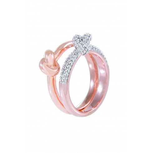Bronzallure Set of 2 Knotted Rings WSBZ00554.WR-12