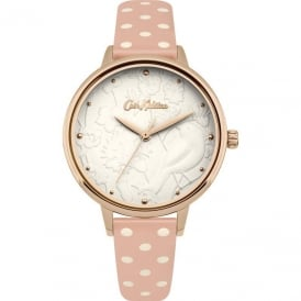 Cath Kidston Ladies' 3D Bird Nude Strap Watch CKL057PRG