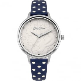Cath Kidston Ladies' Bird Navy Spot Strap Watch CKL057US