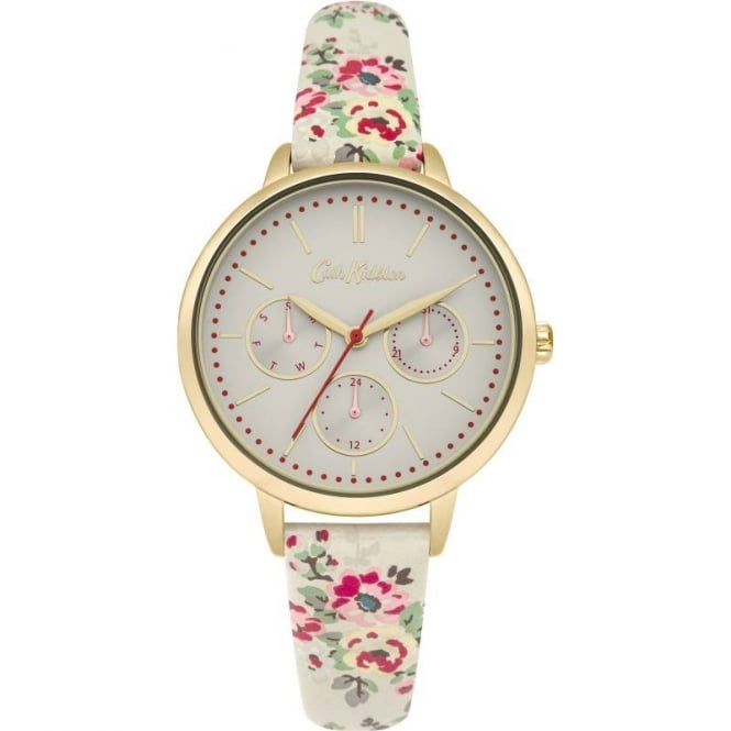 Cath Kidston Ladies' Kingswood Rose Strap Watch CKL003WG