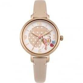 Cath Kidston Ladies Painted Birds Strap Watch CKL035CRG