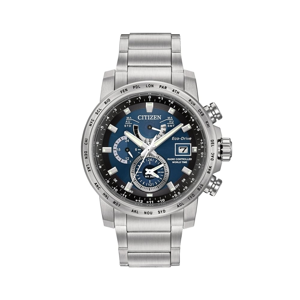 how to set time on citizen eco drive