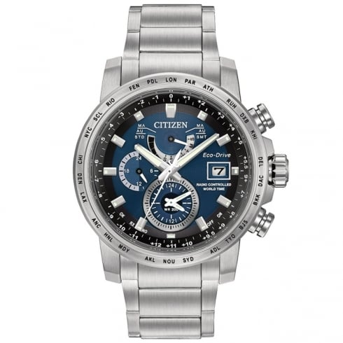Citizen Eco- Drive World Time A-T Alarm Watch AT9070-51L