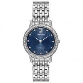 Citizen Ladies' Eco-Drive Silhouette Swarovski Crystal Watch EX1480-58L