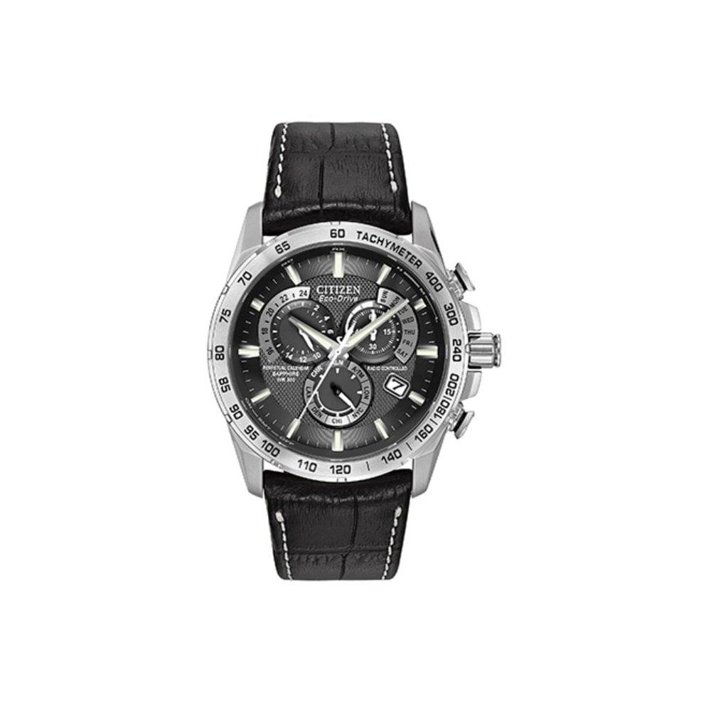 a46402f29 Citizen Men's Chrono Perpetual Alarm Chronograph Radio Controlled Eco-Drive  Watch AT4000-02E