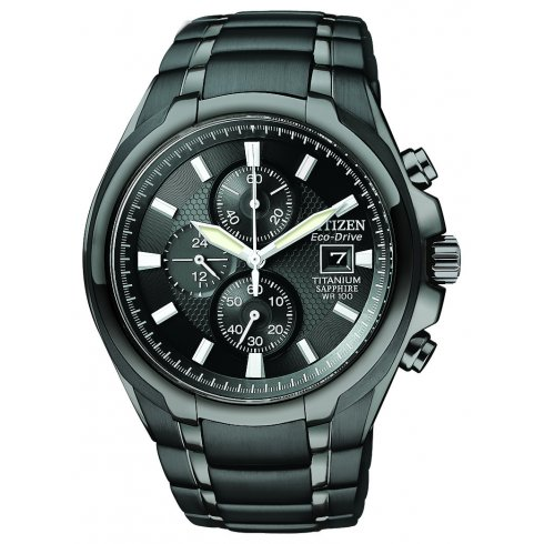 Citizen Men's Chronograph Titanium Eco-Drive Watch - CA0265-59E
