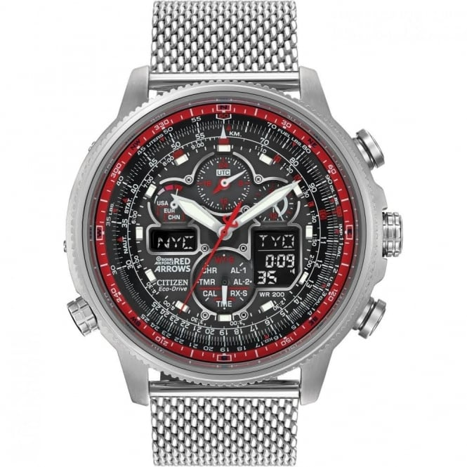 Citizen Men's Navihawk A-T Red Arrows Limited Edition Radio Controlled Watch JY8039-54E