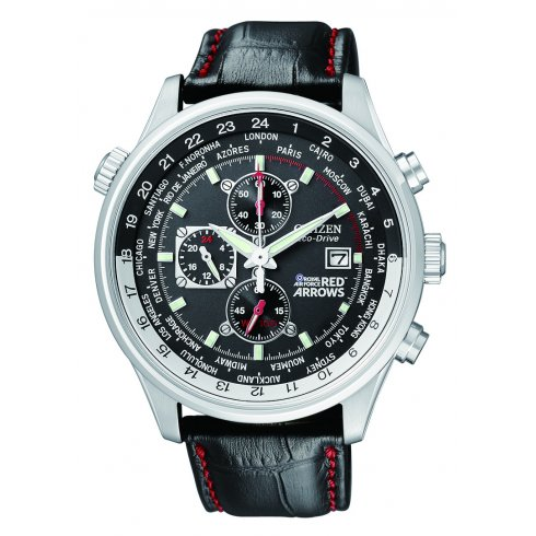 Citizen Men's Red Arrows World Time Chronograph Eco-Drive Watch CA0080-03E