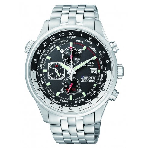 Citizen Men's Red Arrows World Time Chronograph Eco-Drive Watch - CA0080-54E