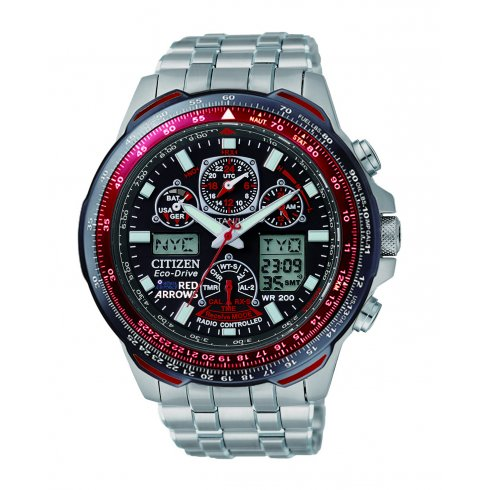 Citizen Men's Skyhawk A-T Red Arrows Titanium Alarm Chronograph Radio Controlled Eco-Drive Watch JY0110-55E
