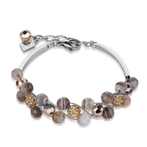 Coeur De Lion Crystal Brown-Beige Bracelet 4895/30-1112