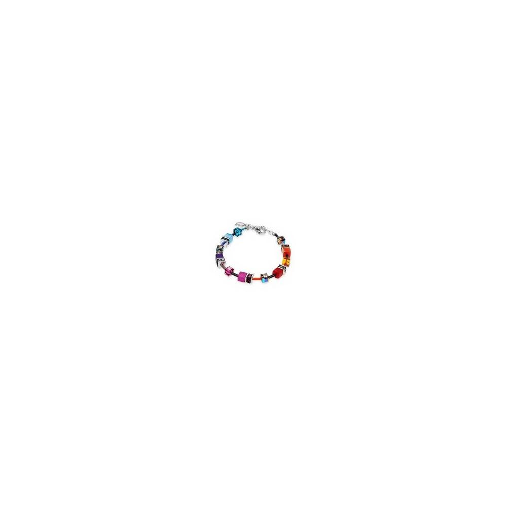 feccb6322 Coeur De Lion Geo Cube Bracelet Multicolour Rainbow 2838/30-1520 ...