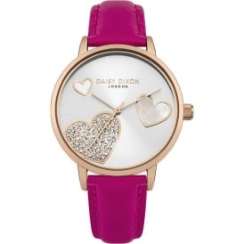 Daisy Dixon Ladies' Pink Strap Watch DD076PRG