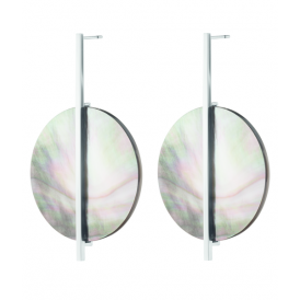 Dyrberg/Kern Cerith Grey Mother of Pearl Earrings 343260