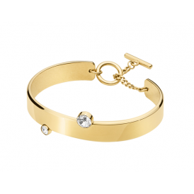 Dyrberg/Kern Gold Plated Vetro Crystal Bangle 340822