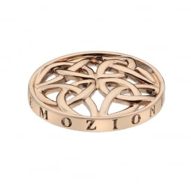 Emozioni 25mm Celtic Knot Rose Gold Plated Coin EC296