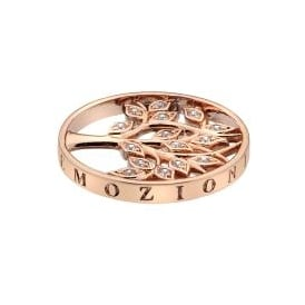 Emozioni 25mm Tree of Life Rose Gold Plated Coin EC428