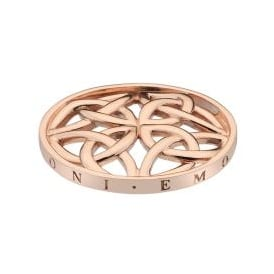 Emozioni 33mm Celtic Knot Rose Gold Plated Coin EC425