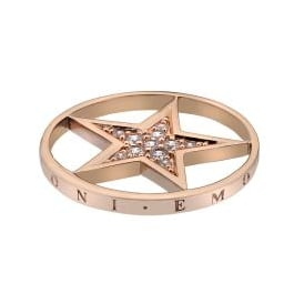 Emozioni 33mm Rose Gold Plated Star Coin EC337