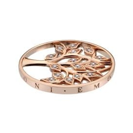 Emozioni 33mm Tree of Life Rose Gold Plated Coin EC429