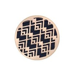 Emozioni Art Deco Wave Rose Gold Plated 25mm Coin EC132