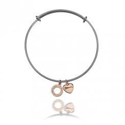 Emozioni Ladies Rose Gold Plated Bangle EB008