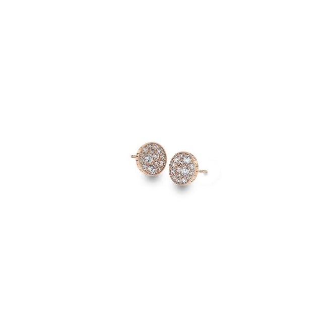 Emozioni Scintilla RG White CZ Stud Earrings EE014