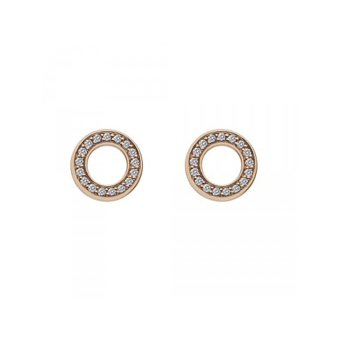Emozioni Silver Saturno Rose Gold Plated Earrings - EE010