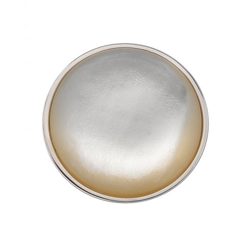 Emozioni White Mother of Pearl Coin - 25mm EC364