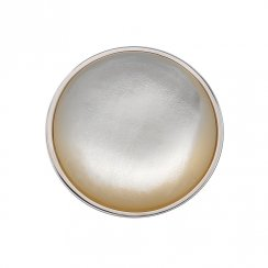 Emozioni White Mother of Pearl Coin - 25mm EC057