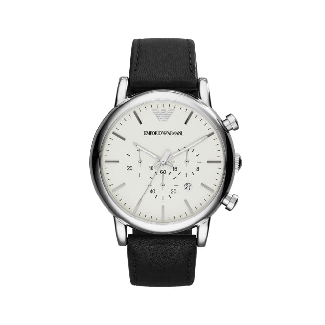 Emporio Armani Men's Chronograph Leather Strap Watch AR1807