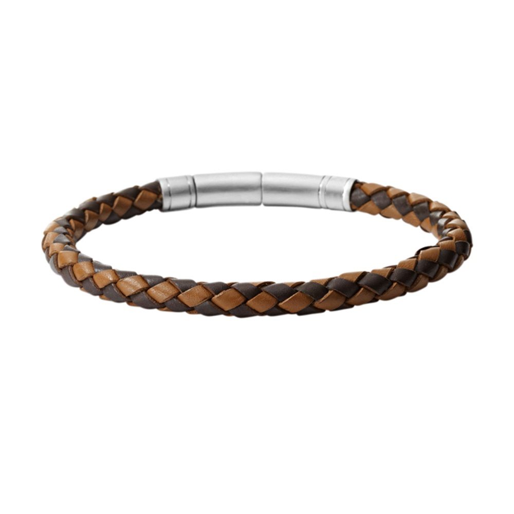 Fossil Jewellery Men 039 S Brown Leather Bracelet Jf00509797