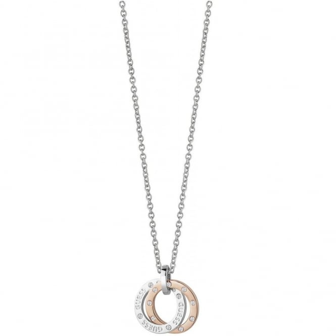 Guess Jewellery E-Motions Small Circle Necklace UBN83105